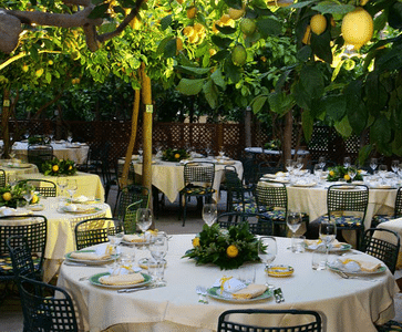 Capri wedding venues Da Paolino Lemon Trees