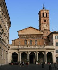 Catholic wedding in Rome Santa Maria Trastevere church