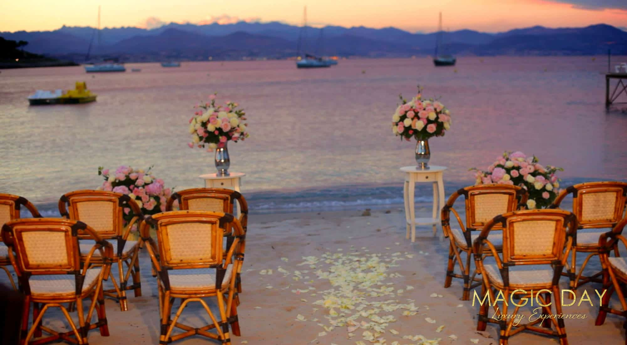 Beach wedding French Riviera
