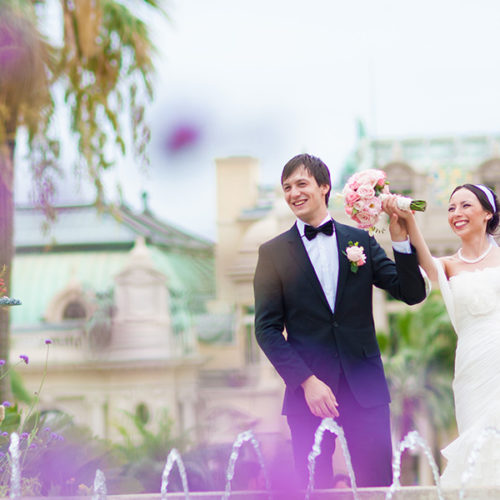 French Riviera beach wedding