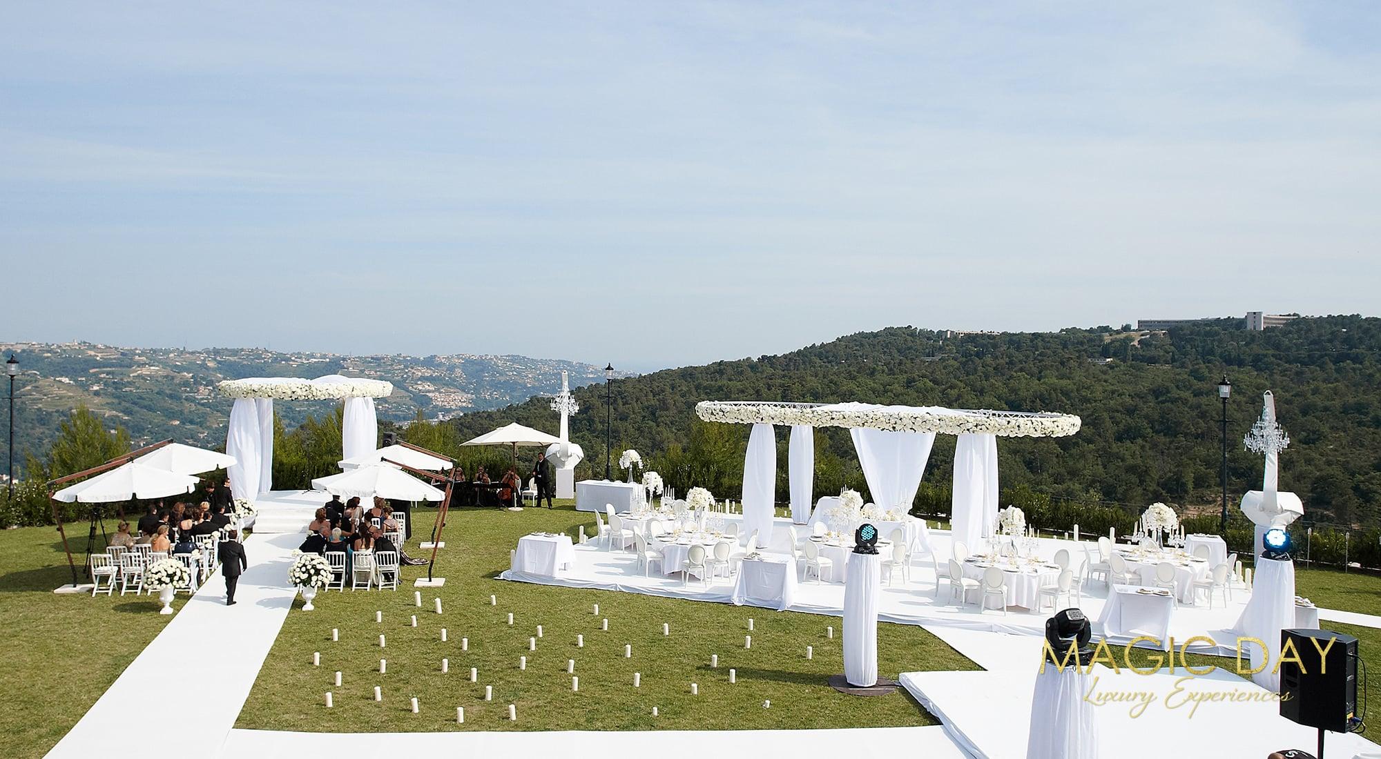 French Riviera chateau wedding