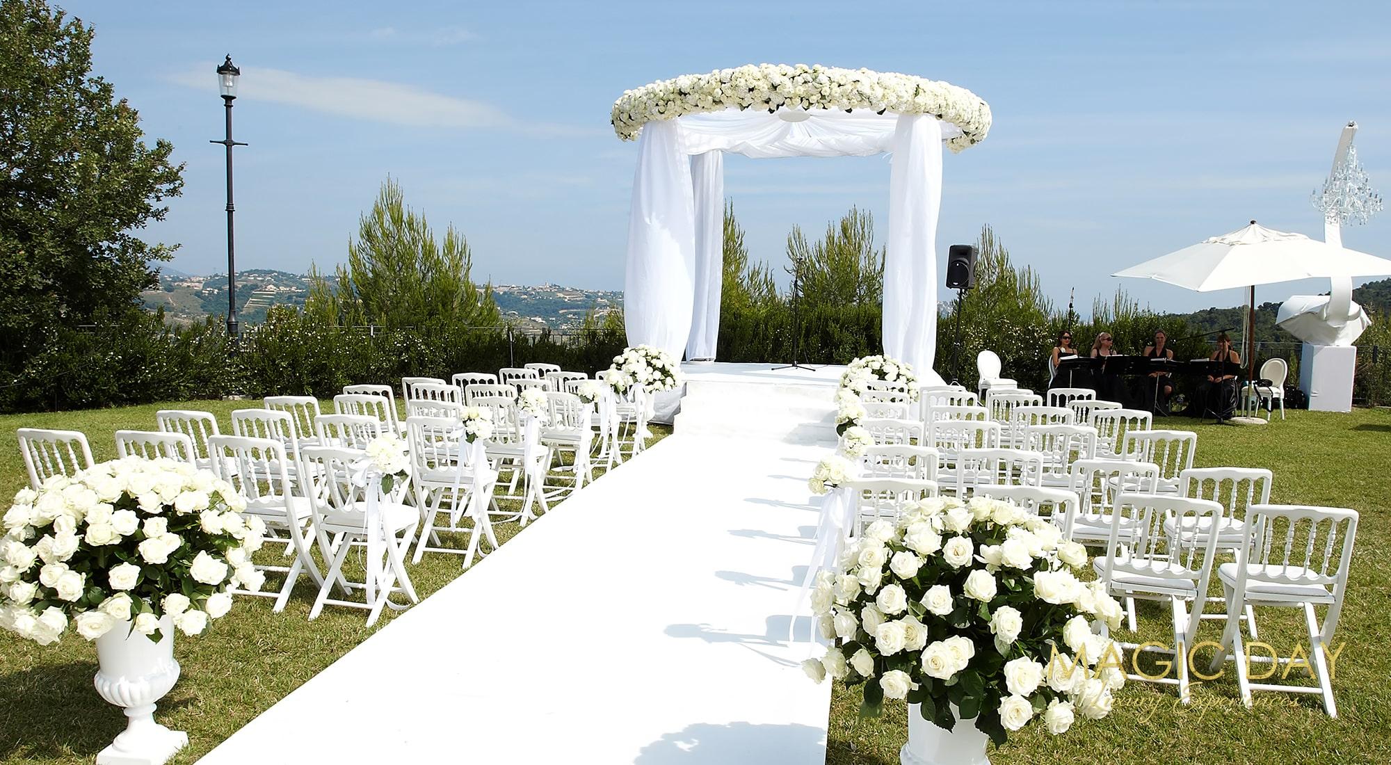 Luxury chateau wedding