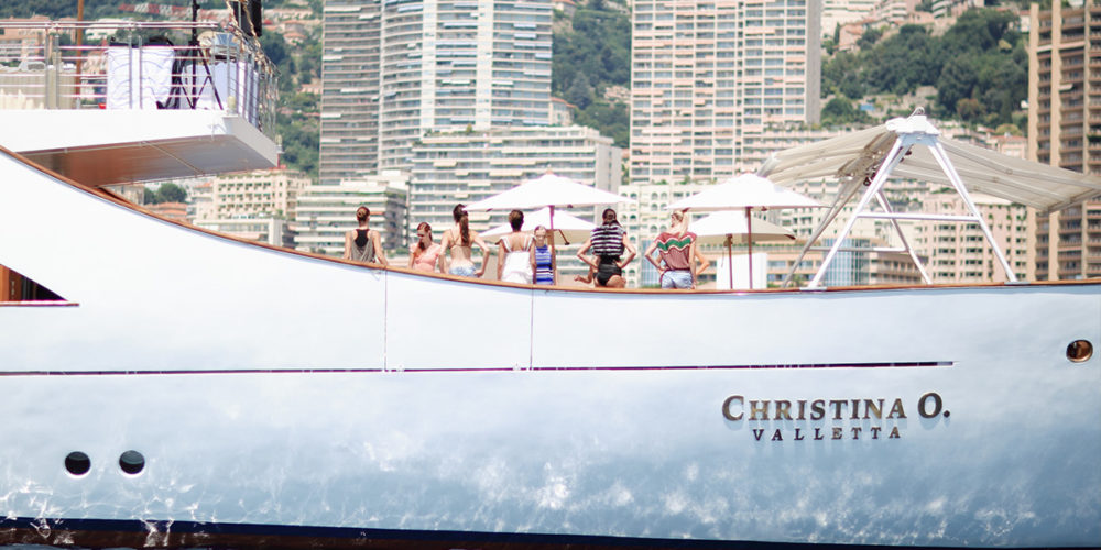 Yacht birthday party aboard Christina O mega yacht